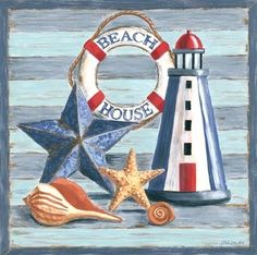 Beach House Lighthouse (Jennifer Brinley):