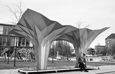 Gallery of Origami Pavilion Creates Shelter with 8 Folded Aluminum Sheets - 8