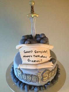 Awesome Runescape cake.