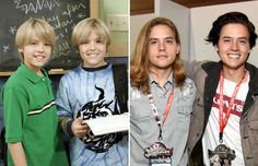 Cole and Dylan Sprouse (2005 and 2017) - W. Disney/Everett/Rex Images; Michael Kovac/Getty Images for Nintendo