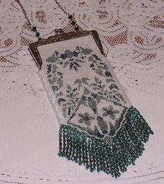 Peyote stitch purse.