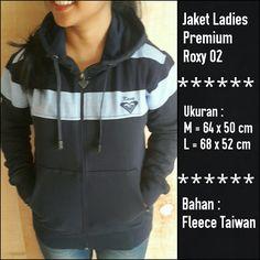 Jaket Ladies Premium Roxy 02 Hitam|| Menyerupai Original, lambang Bordir, Bahan halus dan berbulu seperti ori, Resleting sesuai merk, dan nyaman dipakai || Ukuran M dan L || Minat?? Telp/WA: 085842323238 || BBM: 5B0B3B3D