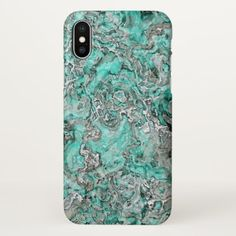 Faux Silver Leather Chic Paisley Tribal Pattern iPhone X Case - faux gifts style sample design cyo
