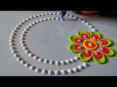 In this channel you will get colourful vibrant and attractive rangoli designs for all the Indian festivals like Diwali tulsi vivaah dev deepawali new year Po. Easy Rangoli Designs Diwali, Rangoli Designs Latest, Rangoli Designs Flower, Rangoli Patterns, Colorful Rangoli Designs, Flower Rangoli, Beautiful Rangoli Designs, Kolam Designs, Simple Rangoli Border Designs