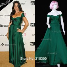 >> Click to Buy << Sofia Vergara Off the shoulder Pleated Dark Green Maxi Long Prom Gown Celebrity Dress #Affiliate