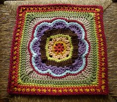 Morroccan Tile. FREE square pattern on Ravelry.