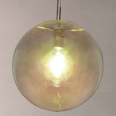BuyJohn Lewis Caprice Single Glass Pendant, Mirrored Online at johnlewis.com