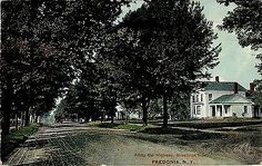 FREDONIA NY ALONG THE HIGHWAY 1911 PC VIEW