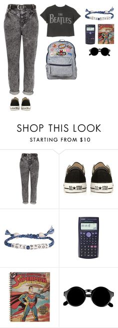 """too fool for school!!!!!!!!!!"" by aliaa-alasi ❤ liked on Polyvore featuring River Island, Converse, Venessa Arizaga, Casio and Retrò"