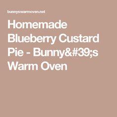 Homemade Blueberry Custard Pie - Bunny's Warm Oven