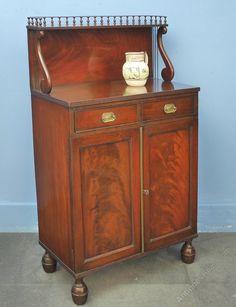 Small Regency Mahogany Chiffonier, Cabinet - Antiques Atlas