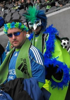 Seattle Sounders FC & their rabid fans Mls Cup, Seattle Sounders, Seattle Fashion, Seattle Area, Soccer Fans, Yesterday And Today, Real Women, Spirit, Celebrities