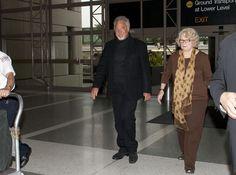 Tom Jones  and his wife of 53 years at LAX. *** Tom Jones' birthday 7 June (1940) *** http://en.wikipedia.org/wiki/Tom_Jones_(singer)