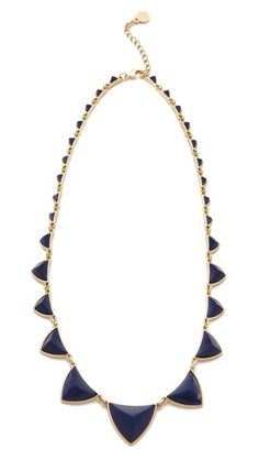 I dont want to miss this again!  House of Harlow 1960 Navy Pyramid Necklace
