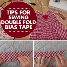 Learn how to make a continuous double fold bias tape!