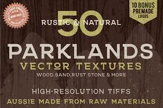 50 Rustic Parklands Bitmap Textures Graphics **Rustic Earthy Textures That Won't Lag Adobe Illustrator (TIFF Bitmap Textures)**Get 50 aussie ma by Jeremy Mura Texture Web, Texture Vector, Business Brochure, Business Card Logo, Design Typography, Lettering, Grunge, Vector Brush, Feeling Frustrated