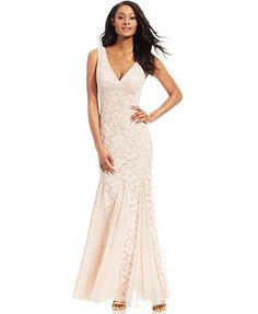 Xscape Sleeveless Lace Mermaid Gown Maid Of Honour Dresses 49aaea786cd7