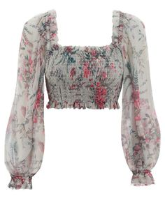 Shop for Zimmermann Bayou Shirred Bodice Top at ShopStyle. Indian Fashion Dresses, Girls Fashion Clothes, Fashion Outfits, Fashion Tips, Fashion Trends, Stylish Blouse Design, Fancy Blouse Designs, Crop Top Outfits, Mode Outfits