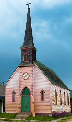 The Pink Church -Leadville First Evangelical Lutheran Church, 1888 Leadville Colorado, Pink Dishes, Abandoned Churches, Documentary Photographers, School Building, Pink Houses, Lutheran, Place Of Worship, Cathedrals