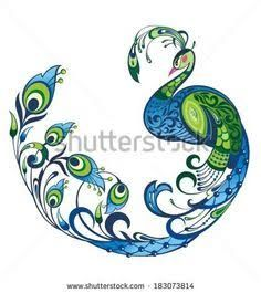 Image result for ombre peacock art