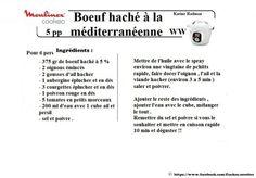Creme cotton pour tarte Boeuf haché à la méditerranéenne façon WW METTRE 700G DE HACHE A 5% POUR 6