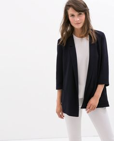 Image 2 of LONG BLAZER from Zara