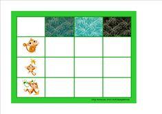 Board for the monkey matrix. By Autismespektrum.