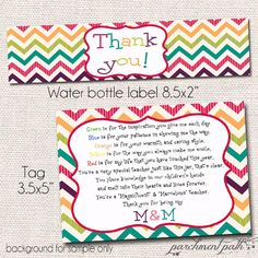 DOWNLOADABLE Water Bottle Label Template for Avery® 22845 ...