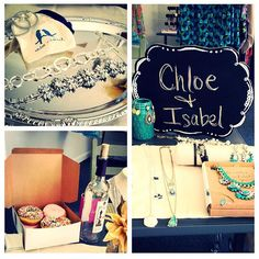 My Chloe and Isabel business cards that I had printed on