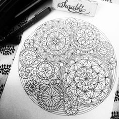 "330 Likes, 15 Comments - Surabhi Vijay Kuthiala (@intrikateink) on Instagram: ""Here it is....a coloring Mandala. Will be uploading soon on my etsy Store . . . #art #mandala…"""