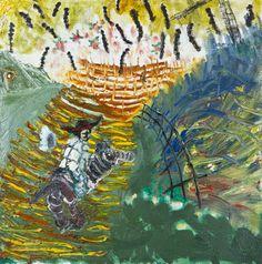 Janne Räisänen: Outi ihmemaassa, 1995, öljy, 63x62 cm - Hagelstam A137