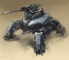 daily mech painting by *ProgV on deviantART