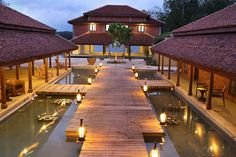 A Wooden pathway leading to the Svad #Restaurant at #Anantya #Resort - A #RareIndia #Retreat. Every corner of the #Retreat takes you to another world. Read More: http://bit.ly/1uvcFff
