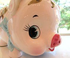 Vintage Relpo Piggy Bank Planter Candy Dish  by VintageGlassEscape