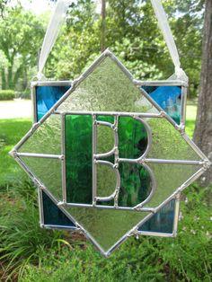 Custom Monogram Stained Glass Single letter by HEvansDesigns, $65.00