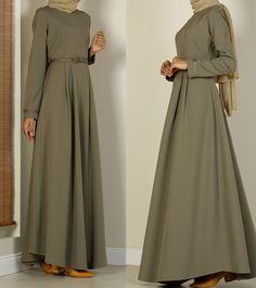 Islamic Fashion, Muslim Fashion, Hijab Fashion, Women's Fashion, Stylish Dresses For Girls, Girls Dresses, Belted Dress, Dress Skirt, Hand Watch
