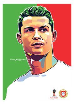 Road To Cup 2018 on Behance Cristiano Ronaldo Manchester, Cristiano Ronaldo Cr7, Cristano Ronaldo, Ronaldo Juventus, World Cup Draw, Cristiano Ronaldo Wallpapers, Santiago Bernabeu, Soccer Stadium, Pop Art Portraits
