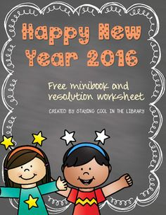 Updated for 2016!This is a perfect activity to welcome students back after Christmas break.  This is a free New Year's mini book for students to fill out.  It includes a page for them to write about their favorite memories, what they wish for the new year and their resolutions.