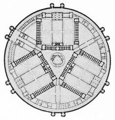 Sir John Soane, Design for a Women's Prison, Plan, 1782