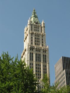 I worked here in college. Downtown New York, New York City, Woolworth Building, New York Buildings, City That Never Sleeps, Empire State Building, Silhouettes, Nyc, Architecture