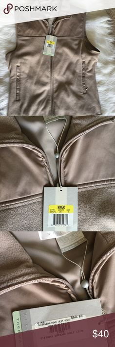 "NWT Nike golf vest Size small NWT Nike golf sport vest , beige. Zips up. Length 23"", chest 18"" Nike Jackets & Coats Vests"
