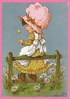 . Mary May, Cartoon Posters, Holly Hobbie, Art Portfolio, Fabric Painting, Vintage Cards, Altered Art, Illustrators, Cute Pictures