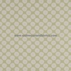 Daisy by Clarke & Clarke clearance curtain fabric by Stock Clearance in Sage