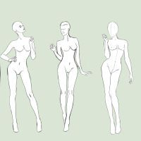 47 best Fashion Croquis images on Pinterest   Croquis  Figure     Free Fashion Bases by BasakTinli