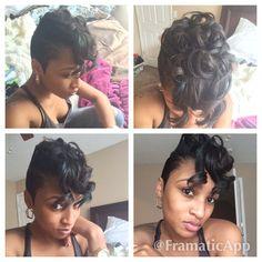 Curly shot hair