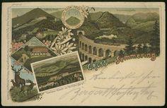 Gruss vom Semmering. Correspondenz-Karte. 1901.