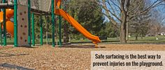 Safe surfacing is the best way to prevent injuries on the playground - Prevent Child Injury Playground Safety, Injury Prevention, Good Things, Children, Young Children, Boys, Kids, Child, Children's Comics