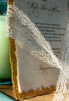 Burlap Wedding Invitations Diy
