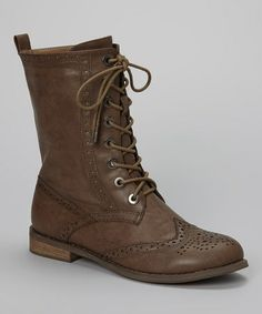 Take a look at this Taupe Kenia 02 Boot by I Heart Footwear on #zulily today!
