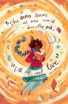 I absolutely love these bookish illustrations by Simini Blocker. They feature cozy images and quotes about books, reading and libraries. November, an art print by Simini Blocker - INPRNT I Love Books, Books To Read, My Books, Reading Quotes, Book Quotes, Heart Quotes, Bookworm Quotes, Library Quotes, Reading Art